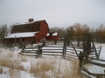 Old Red Barn. Photo by Annee Davis.