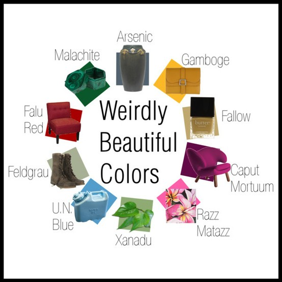 color name list list for weird colors so